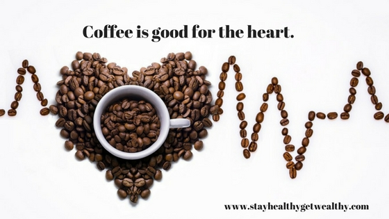 Coffee is good for the heart